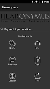 Hearonymus - your audio guide for pc
