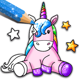Unicorn Coloring Book Glitter Online PC (Windows / MAC)