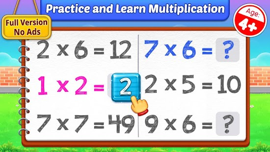 Multiplication Kids - Math Multiplication Tables for pc