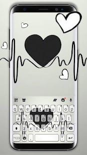 Black Heartbeat Keyboard Theme for pc