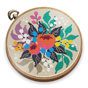 Cross Stitch Club — Color by Numbers with a Hoop Online PC (Windows / MAC)