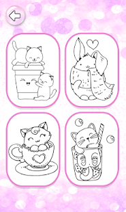 Kawaii Coloring Pages With Glitter - Drawing Book