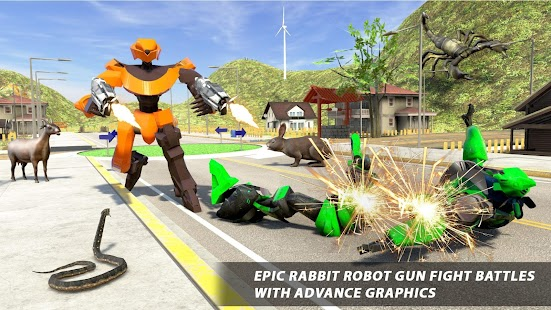 Bunny Jeep Robot Game: Robot Transforming Games