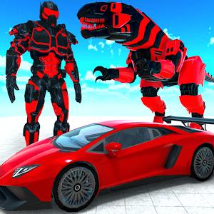 Dinosaur Robot Transform: Car Robot Transport Sim Online PC (Windows / MAC)
