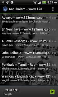 Default Music Player Screenshot