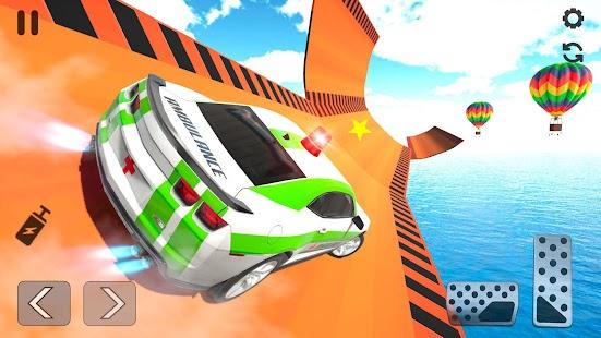 Ambulance Car Stunt Games: Mega Ramp Car Games