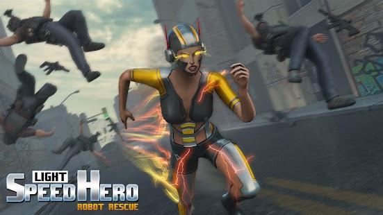 Light Speed Hero Robot Crime City for pc