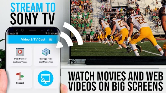 Video & TV Cast Pro for Sony TV | Cast Web Videos for pc