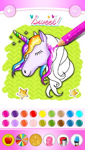 Unicorn Coloring Book Glitter for pc