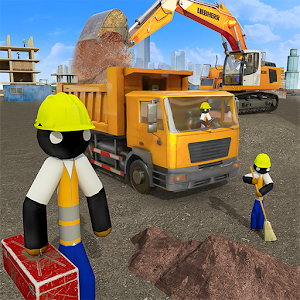 Stickman City Construction Excavator Online PC (Windows / MAC)