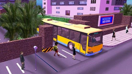 High School Bus Driving Game Bus Simulator 2020