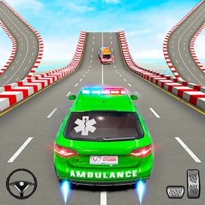 Ambulance Car Stunt Games: Mega Ramp Car Games Online PC (Windows / MAC)