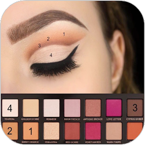 Examples of eye makeup (Step by step) Online PC (Windows / MAC)