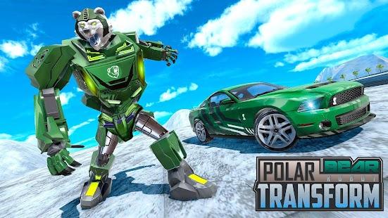 Polar Bear Robot Transform: Robot car game for pc