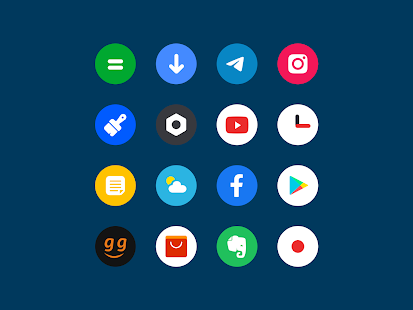 Roundy Icon pack - round pixel icons