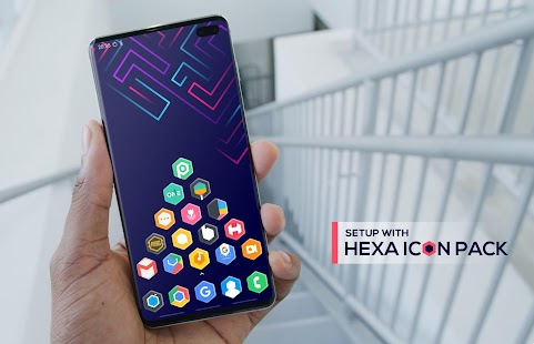 Hexa Icon Pack : Hexagonal for pc