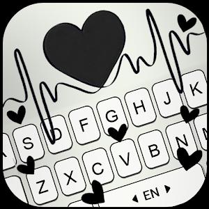Black Heartbeat Keyboard Theme Online PC (Windows / MAC)