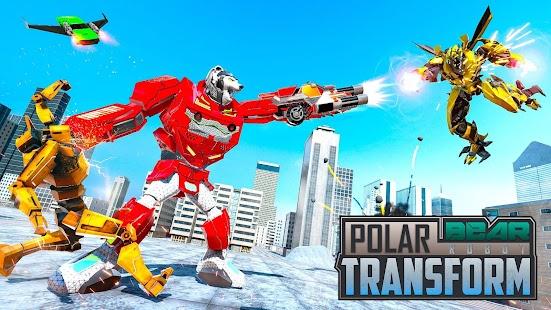Polar Bear Robot Transform: Robot car game