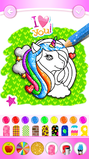 Unicorn Coloring Book Glitter