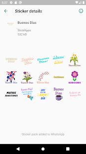 Buenos Dias Buenas Noches Stickers- WAStickerApps