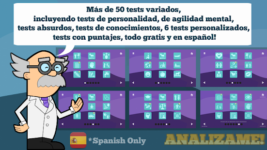 Tests in Spanish for pc