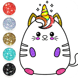 Kawaii Coloring Pages With Glitter - Drawing Book Online PC (Windows / MAC)