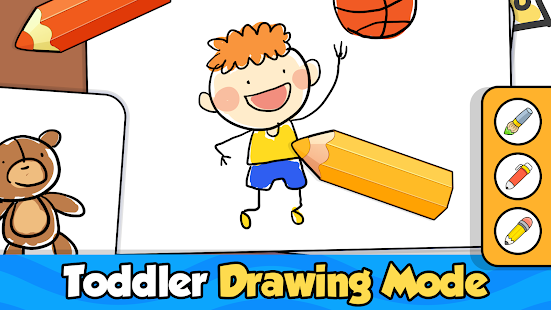 Baby Coloring games for kids with Glow Doodle
