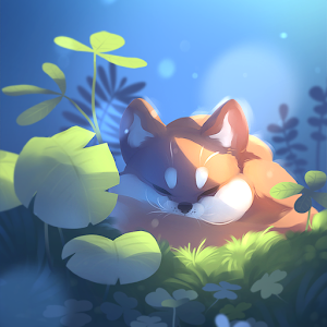 Sleepy Fox Live Wallpaper Online PC (Windows / MAC)