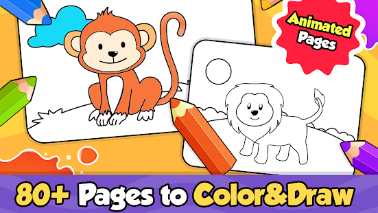 Baby Coloring games for kids with Glow Doodle for pc