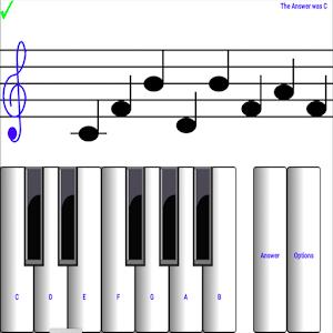 (light) learn sight read music notes piano tutor Online PC (Windows / MAC)