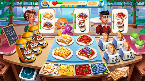 Cooking Marina - fast restaurant cooking games for pc