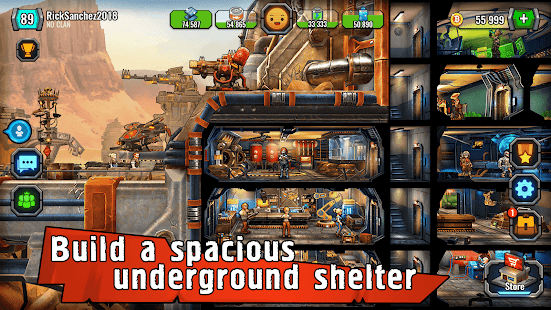 Shelter War-survival games in the Last City bunker for pc