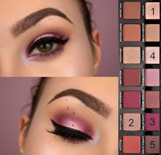 Examples of eye makeup (Step by step) for pc