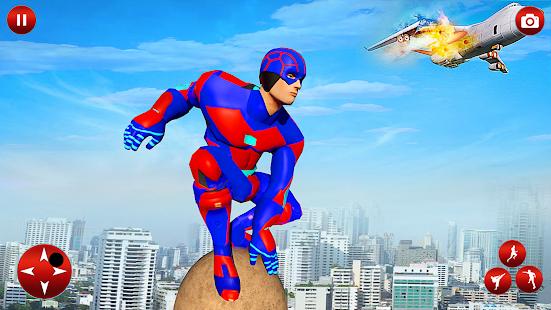 Flying Superhero Robot Speed Hero