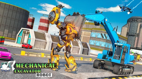 Mechanical Excavator Robot: Flying Transforme for pc
