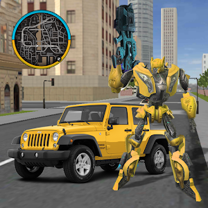 Gold Robot Car Transforme Futuristic Supercar Online PC (Windows / MAC)