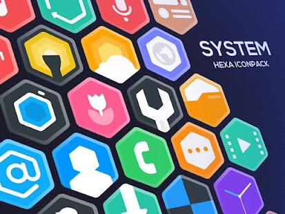 Hexa Icon Pack : Hexagonal