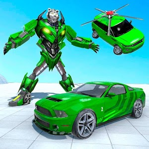 Polar Bear Robot Transform: Robot car game Online PC (Windows / MAC)