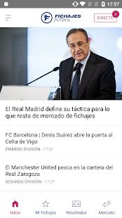 Fichajes fútbol: mercado, resultados, directo for pc