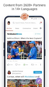 Dailyhunt – 100% Indian App for News & Videos 1