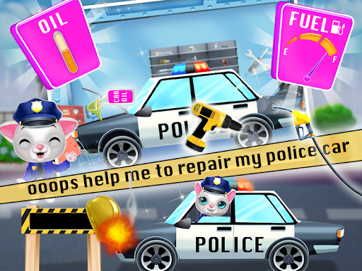 Kitty Cat Police Fun Care & Thief Arrest Game screenshots 6