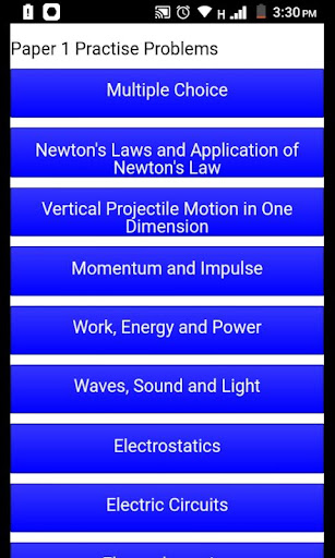 Grade 12 Physical Sciences Mobile Application 1.1 Screenshots 3