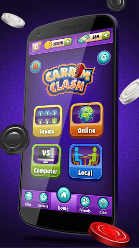 Carrom Clash  Realtime Multiplayer Free Board Game 1.35 screenshots 1