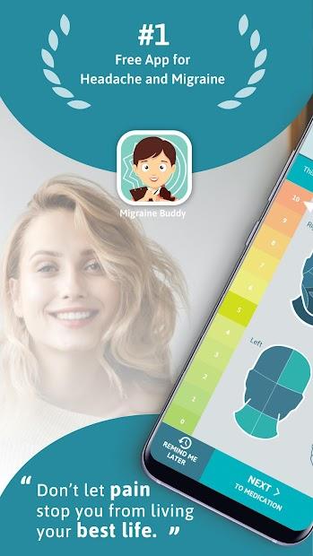 Migraine Buddy - The Migraine and Headache Tracker Android App Screenshot