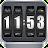 3D Rolling Clock BLACK