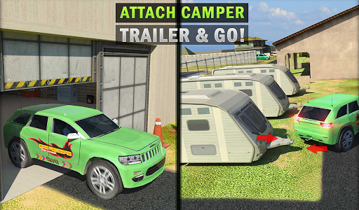 Camper Van Truck Simulator: Cruiser Car Trailer 3D screenshots 16