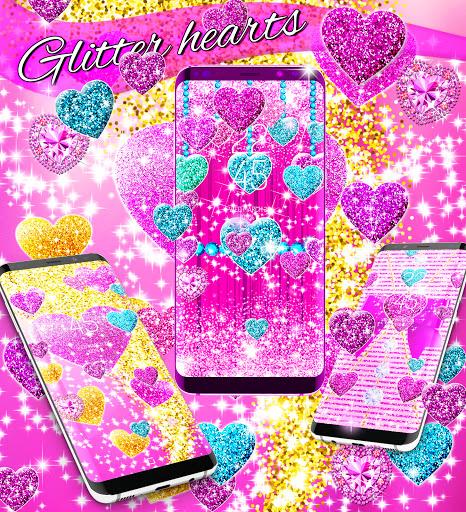 2021 Glitter hearts live wallpaper android2mod screenshots 8