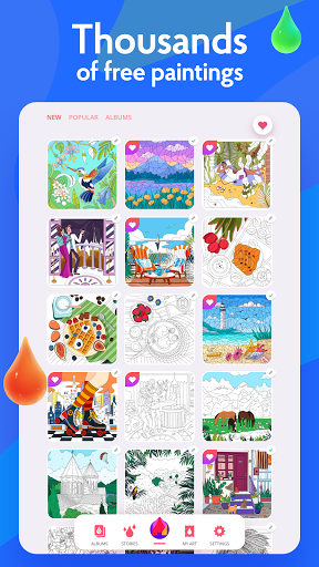 Painting games: Adult Coloring Books, Drawings screenshots 20