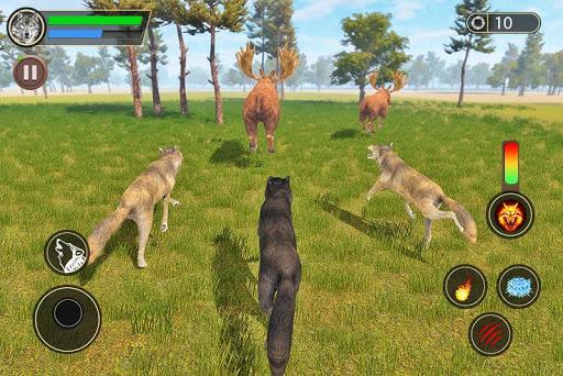 Télécharger simulateur de loup: jeu de jungle sauvage mod apk screenshots 2