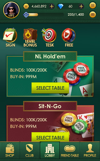 Poker World: Texas hold'em apktreat screenshots 2